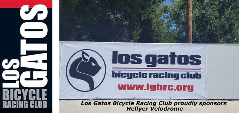LGBRC Banner at Hellyer Velodrome