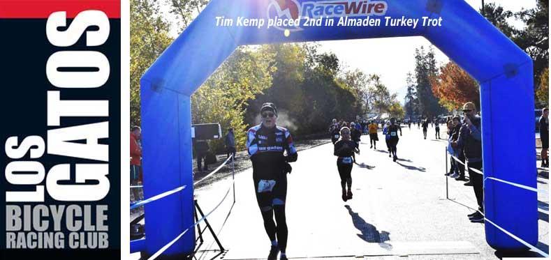 Tim Kemp, 2nd in Almaden Turkey Trot